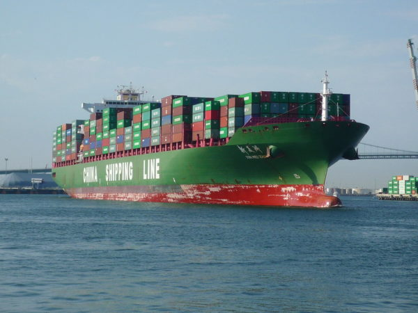 Image of China Shipping Line Cargo Ship