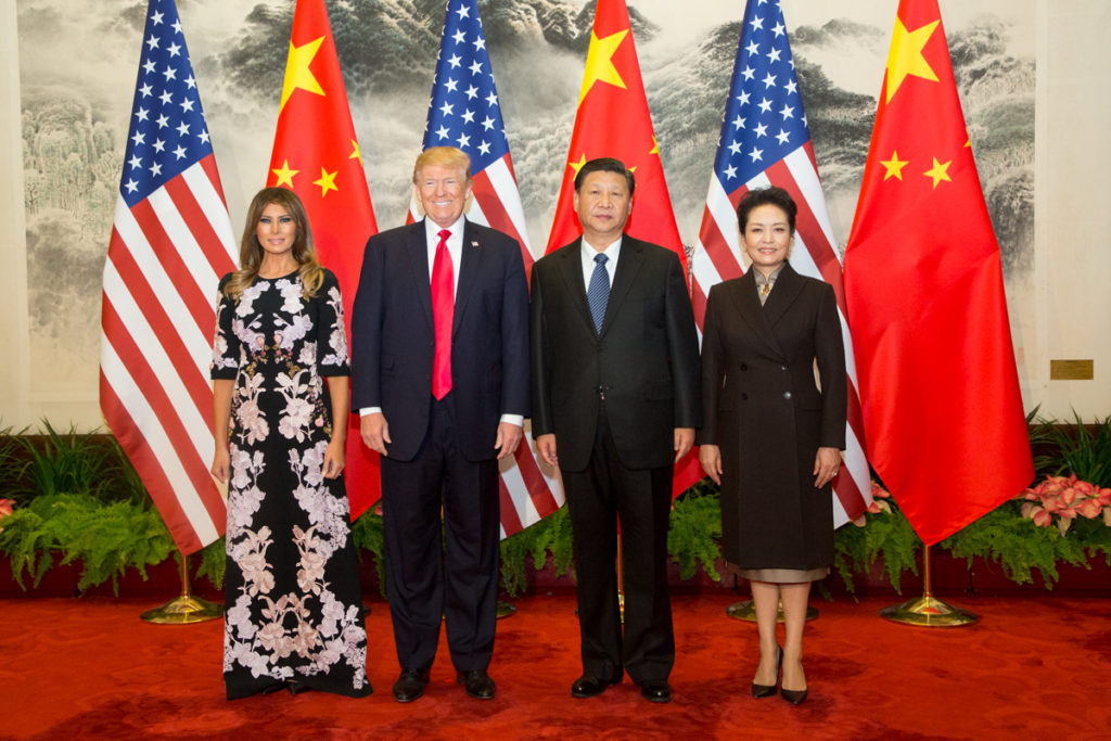 Image of President Trump, First Lady and President of China