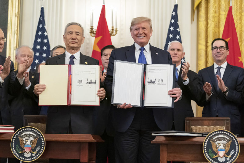 Image of President Trump and China's President