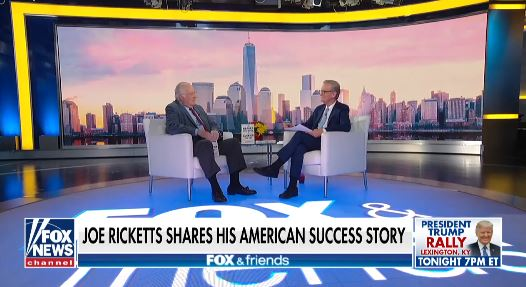 Fox & Friends Joe Ricketts Media Appearance