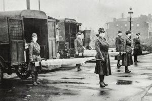 Image of Spanish Flu Nurses and patients